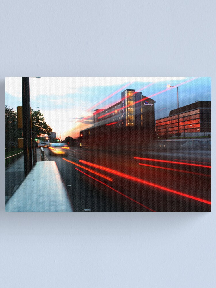 Alternate view of Light-Trails on Queen's Road Canvas Print