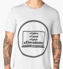 eXplore eXpand eXploit eXterminate 4x Strategy Exploration Games  Men's Premium T-Shirt
