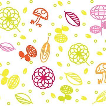 Geometric flowers and mushrooms by craftmania