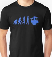 Human Evolution Drummer Unisex T-Shirt