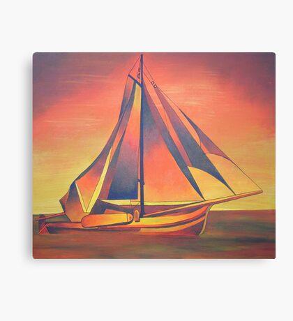Sienna Sails at Sunset Canvas Print