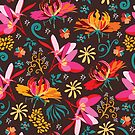 Tropical flower pattern by camcreativedk