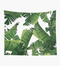 Bananenblätter Grün Wandbehang