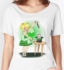 Green Magician and Bunny Women's Relaxed Fit T-Shirt