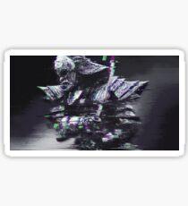 Glitched Samurai Sticker