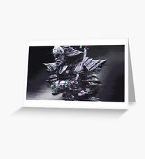 Glitched Samurai Greeting Card