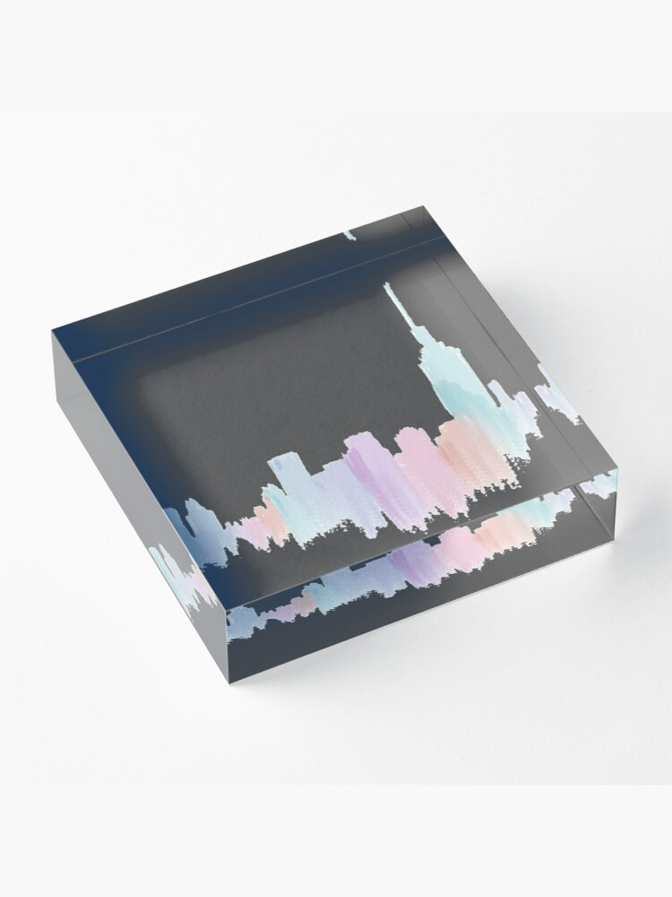 Alternate view of Painted City Skyline Acrylic Block