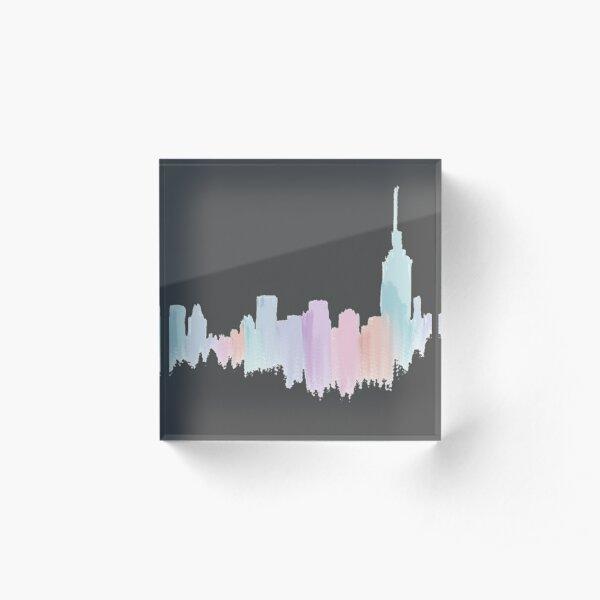 Painted City Skyline Acrylic Block