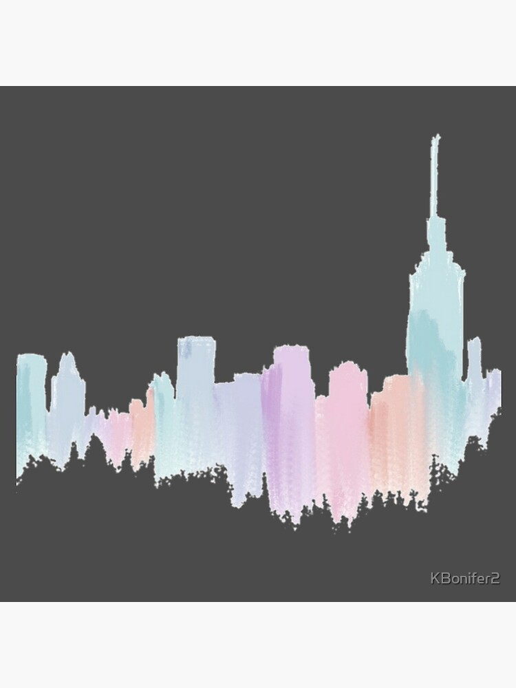 Painted City Skyline by KBonifer2
