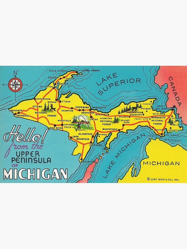 Vintage Upper Peninsula Michigan Travel by pdgraphics