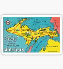 Vintage Upper Peninsula Michigan Travel Sticker