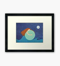Mother Earth: Sea, Sky, Moon and Stars Framed Print