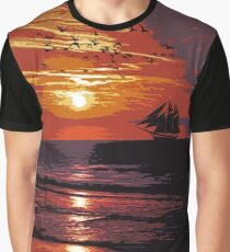 Sunset - Wonder of Nature Graphic T-Shirt