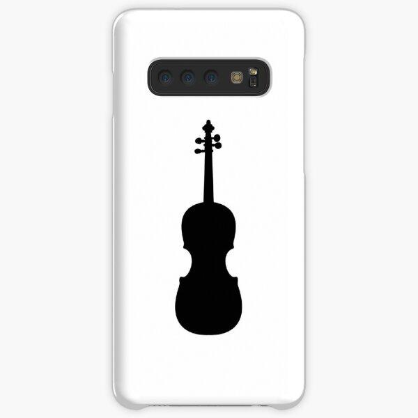 Vintage Violin Cello Instrument Silhouette Samsung Galaxy Snap Case