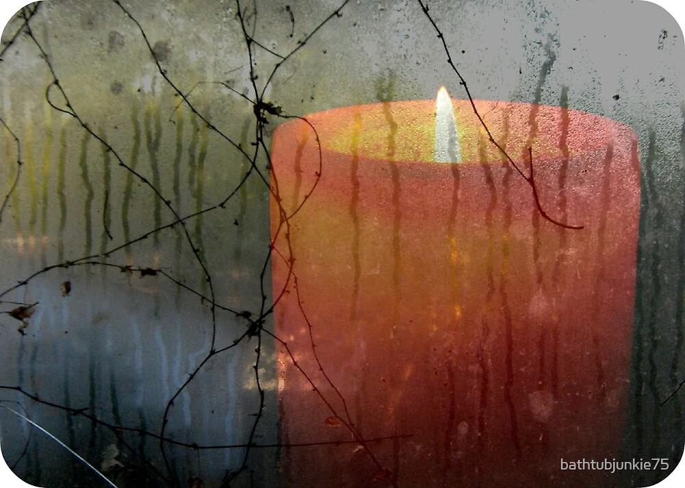 [a candle's glow on a rainy day] by bathtubjunkie75