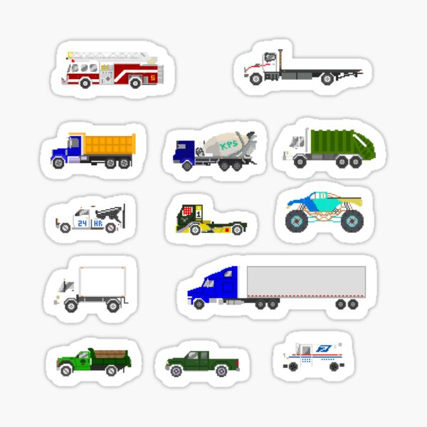 Trucks - The Kids' Picture Show Sticker