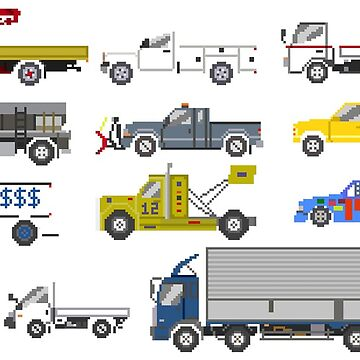 Trucks 2 - The Kids' Picture Show - Pixel Art by KidsPictureShow