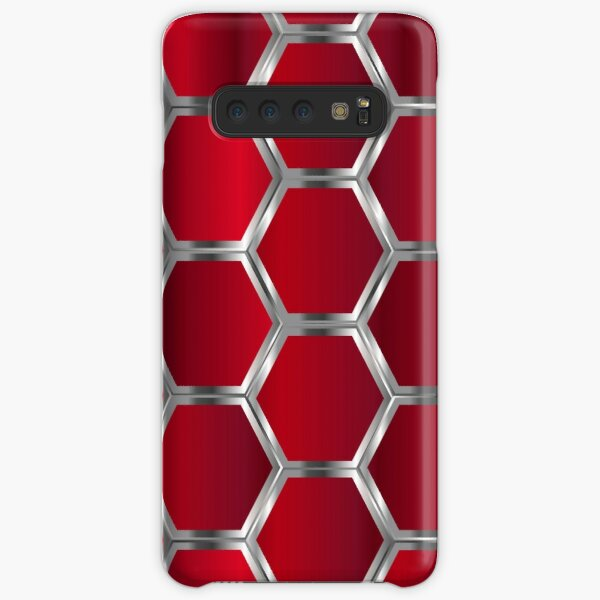 Red and Silver Octagonal Geometric Pattern Samsung Galaxy Snap Case