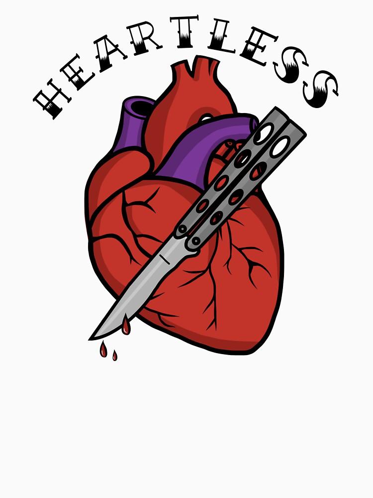 """""""Old School Heart Butterfly Knife"""" T-shirt By"""