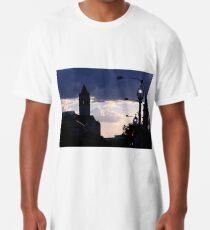 Camiseta larga Una silueta al atardecer en Pennsylvania Avenue