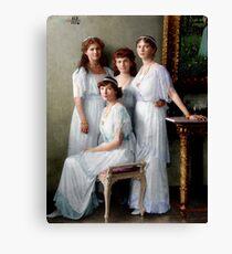 Colorized Romanoff Sisters, circa 1913-14 OTMA Canvas Print
