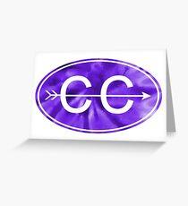 Purple Tie Dye Cross Country Greeting Card