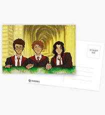 Prongs, Moony, Padfoot Postcards