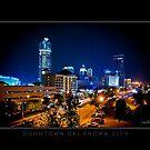 Downtown Oklahoma City - Black Border by Jim Felder