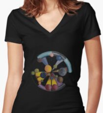 Parallel Universes Women's Fitted V-Neck T-Shirt