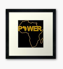 Black Power Third Culture Series Framed Art Print