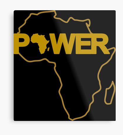 Black Power 3.0 Metal Print