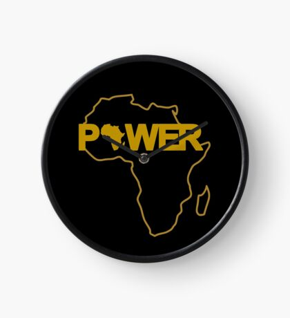 Black Power 3.0 Clock