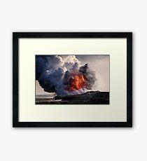 Kilauea Volcano at Kalapana 8 Framed Print