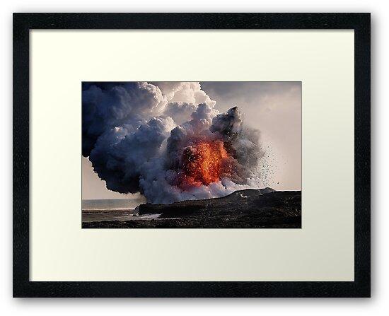 Kilauea Volcano at Kalapana 8 by Alex Preiss