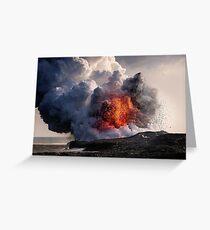 Kilauea Volcano at Kalapana 8 Greeting Card