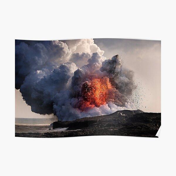 Kilauea Volcano at Kalapana 8 Poster