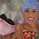 Thai girls laughing by Colombe  Cambourne