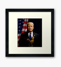 Donald J. Trump - Presidentially Cocky Framed Print
