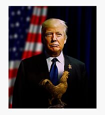 Donald J. Trump - Presidentially Cocky Photographic Print