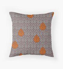 Beech - Tawny Port/Autumn Maple Throw Pillow