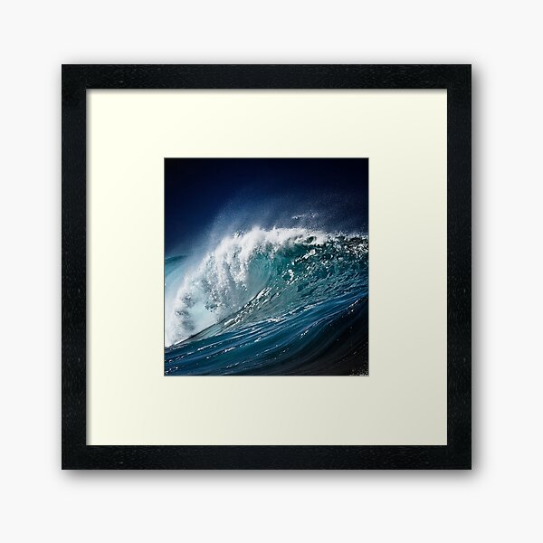 Winter Waves At Pipeline 15 Framed Art Print