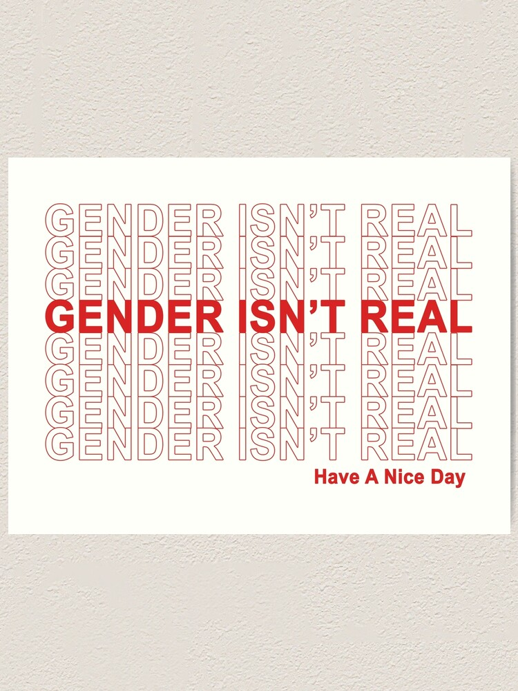 Alternate view of Gender Isn't Real, Have A Nice Day! Art Print