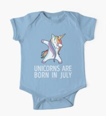 Unicorns are Born in July Dabbing T-Shirt One Piece - Short Sleeve