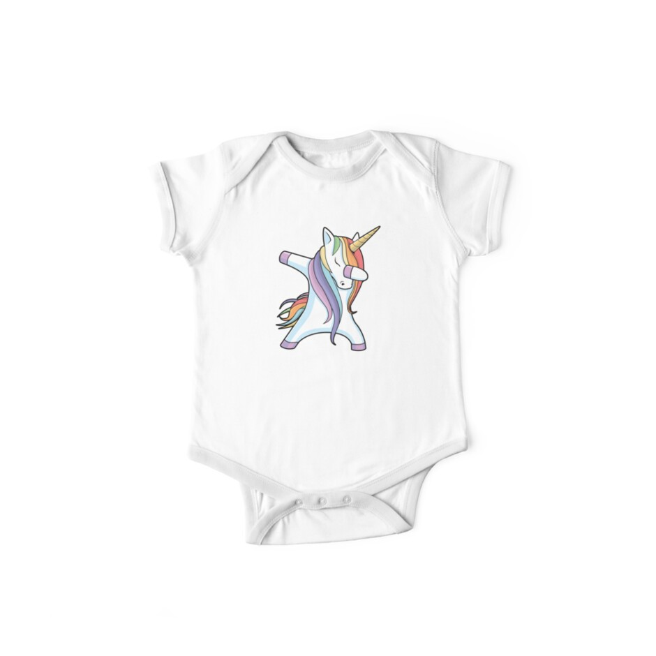 Unicorns are Born in July Dabbing T-Shirt by LiqueGifts
