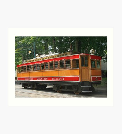 SMR Tram at Laxey Art Print