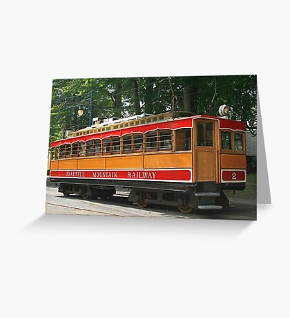 SMR Tram at Laxey Greeting Card