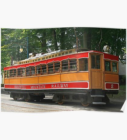 SMR Tram at Laxey Poster