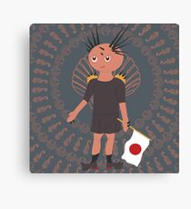 Brown Sea Urchin Chibi Canvas Print