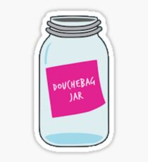 Douche bag jar Sticker