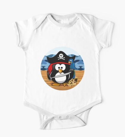 Pirate Penguin with Treasure Chest Kids Clothes